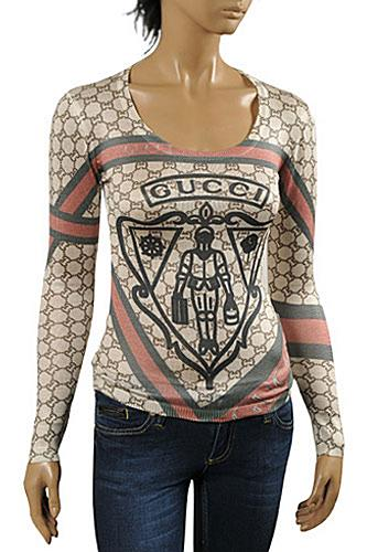 Womens Designer Clothes | GUCCI Ladies' Knit Fitted Top/Sweater #90
