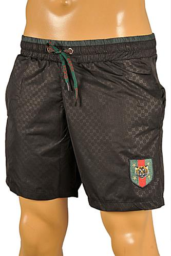 Mens Designer Clothes | GUCCI Logo Printed Swim Shorts for Men #79