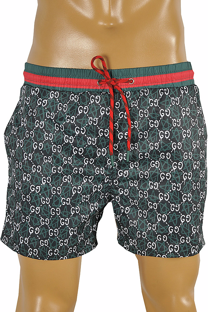 Mens Designer Clothes | GUCCI GG Printed Swim Shorts for Men #81