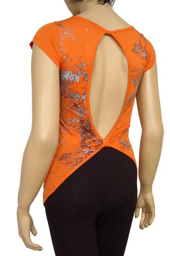 Womens Designer Clothes | GUCCI Ladies Open Back Short Sleeve Top #26