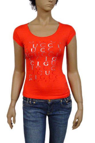 Womens Designer Clothes | GUCCI Ladies Short Sleeve Top #62