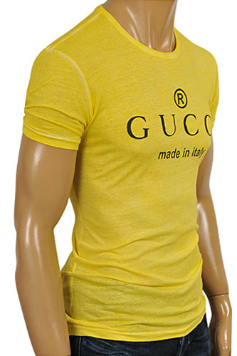 Mens Designer Clothes | GUCCI Men's Crew-neck Short Sleeve Tee #155