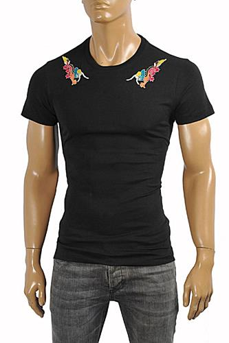 Mens Designer Clothes | GUCCI Cotton T-Shirt With Embroideries #212