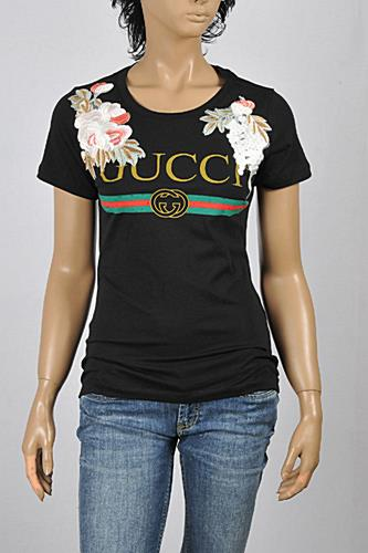 Womens Designer Clothes | GUCCI Women's Cotton T-Shirt With Embroideries #224