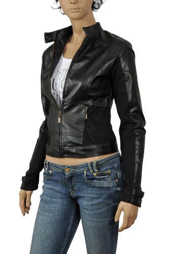 Womens Designer Clothes | PRADA Ladies Artificial Leather Jacket #31