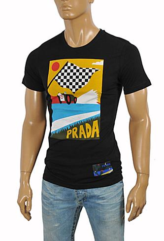 Mens Designer Clothes | PRADA Men's cotton T-shirt with print #102