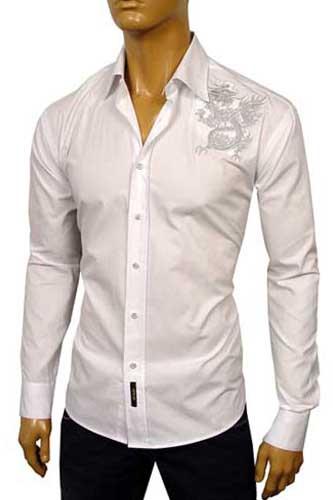 Designer Clothes | VERSACE Men Fitted Dress Shirt #119