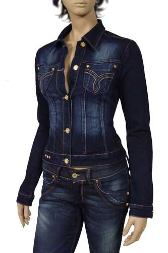 Designer Clothes | VERSACE Lady's Fitted Jeans Jacket #15