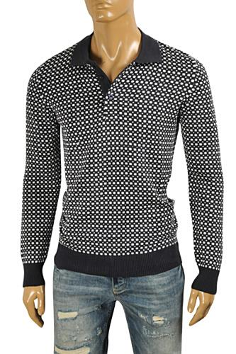 PRADA Men's Knitted Polo Stile Sweater #13