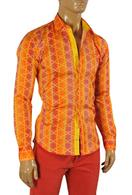 VERSACE Men's Dress Shirt In Orange #154