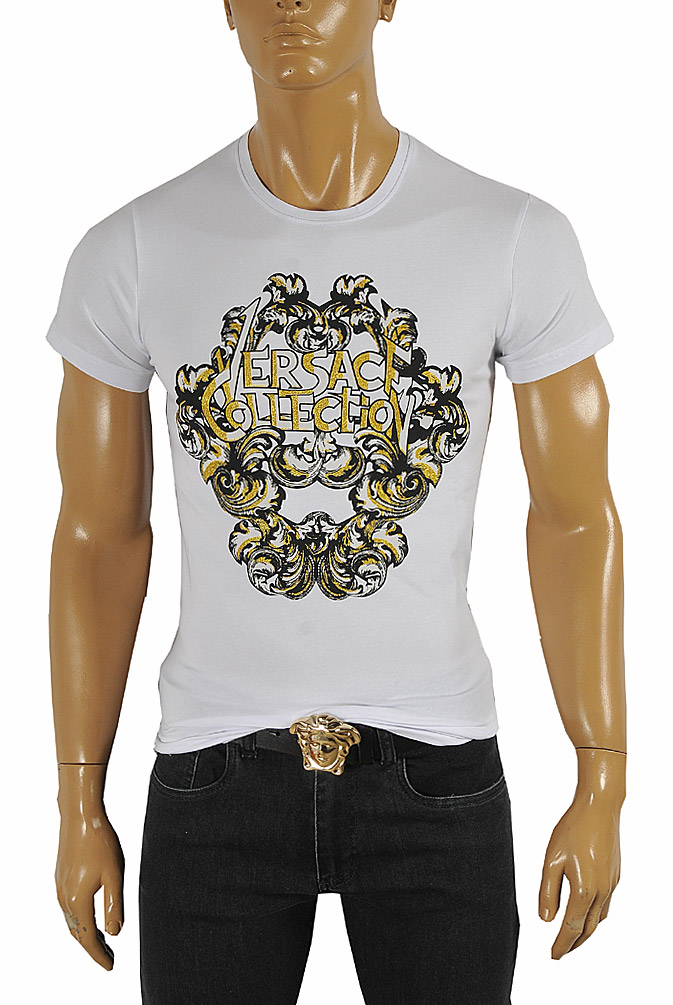 VERSACE Men's T-Shirt With Front Print #107