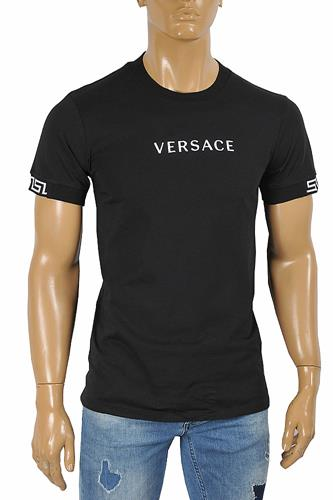 VERSACE men's t-shirt with front logo print 128