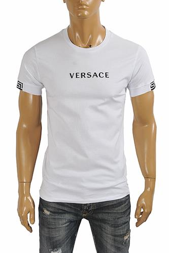 VERSACE men's t-shirt with front logo print 129