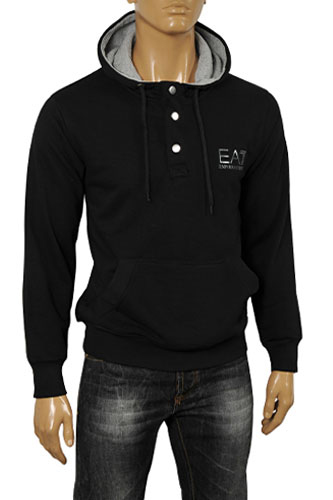 EMPORIO ARMANI Men's Cotton Hoodie in Black #165