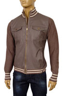 EMPORIO ARMANI Mens Artificial Leather/Knit Jacket #83