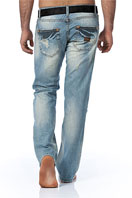 EMPORIO ARMANI Mens Washed Jeans With Belt #98