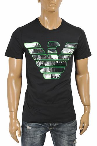 EMPORIO ARMANI Men's T-Shirt With Front Logo Print