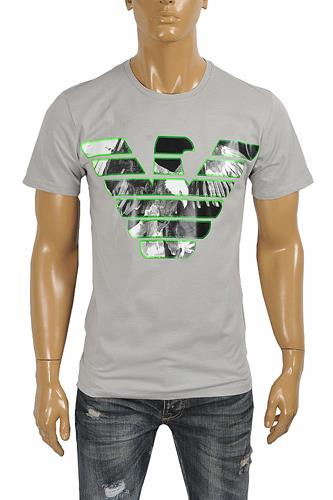 EMPORIO ARMANI Men's T-Shirt With Front Logo Print 124