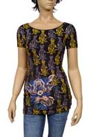CHRISTIAN AUDIGIER Multi Print Short Sleeve Tunic #93