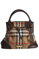BURBERRY Medium Leather and Nylon Tote Bag #9