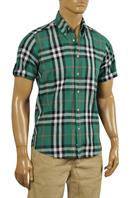 BURBERRY Men's Short Sleeve Button Up Shirt #157