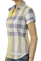 BURBERRY Ladies Short Sleeve Shirt #42