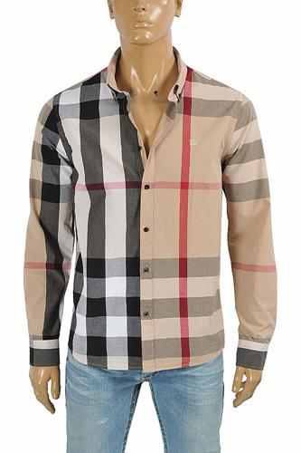 BURBERRY men's long sleeve dress shirt 273