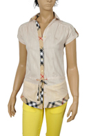 BURBERRY Ladies Short Sleeve Shirt #58