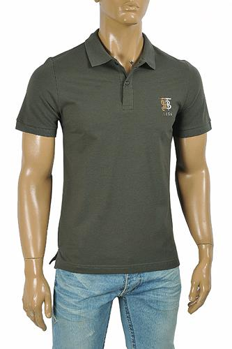 BURBERRY men's polo shirt with Front embroidery 290