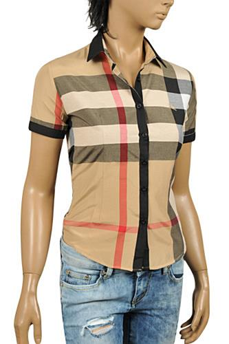 BURBERRY Ladies' Short Sleeve Shirt #195