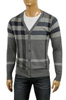 BURBERRY Men's V-Neck Button Up Sweater #173