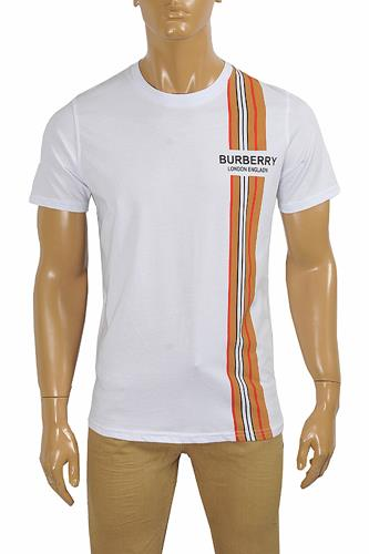 BURBERRY Men's Cotton T-Shirt With Front Logo Print 287