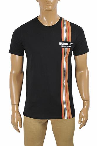 BURBERRY Men's Cotton T-Shirt With Front Logo Print 288