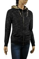 ROBERTO CAVALLI Ladies Zip Up Hooddie #77