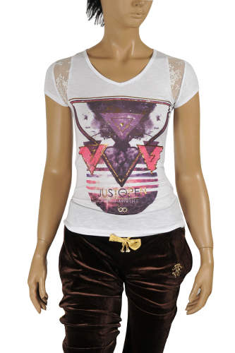 JUST CAVALLI Ladies' Short Sleeve Tee #86