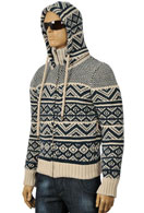 DOLCE & GABBANA Men's Knit Hooded Warm Jacket #351