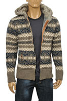 DOLCE & GABBANA Men's Knit Hooded Warm Jacket #360