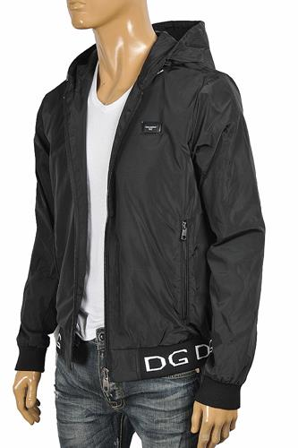 DOLCE & GABBANA Men's windbreaker hooded jacket 429