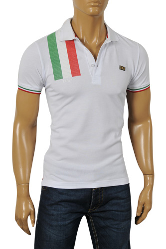 DOLCE & GABBANA Men's Polo Shirt In White #443