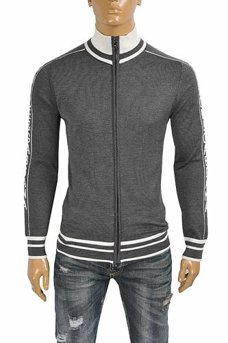 DOLCE & GABBANA men's knitted zip sweater 252