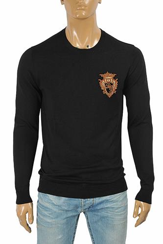 DOLCE & GABBANA men's sweater with patch logo appliqué 254
