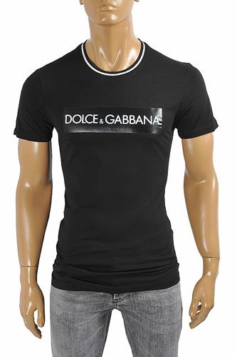 DOLCE & GABBANA men's t-shirt with front print 260