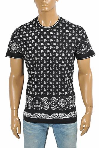 DOLCE & GABBANA men's t-shirt with multiple print 263
