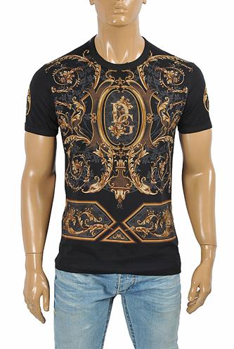 DOLCE & GABBANA men's t-shirt with multiple print 264