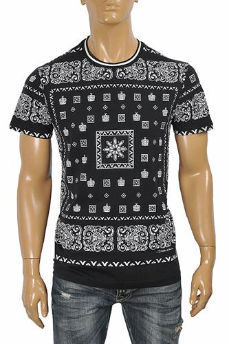 DOLCE & GABBANA men's t-shirt with multiple print 265