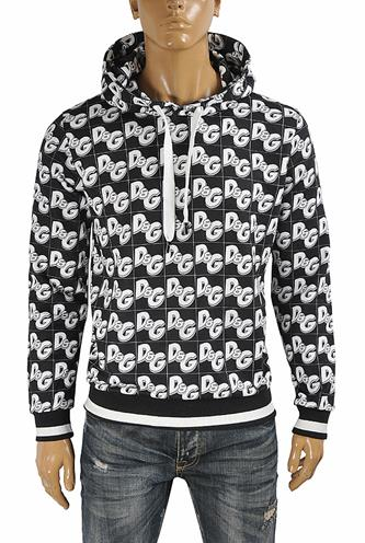 DOLCE & GABBANA men's cotton hoodie with print logo 248