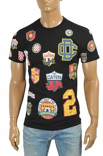 DSQUARED2 Men's logo sticker print t-shirt 14