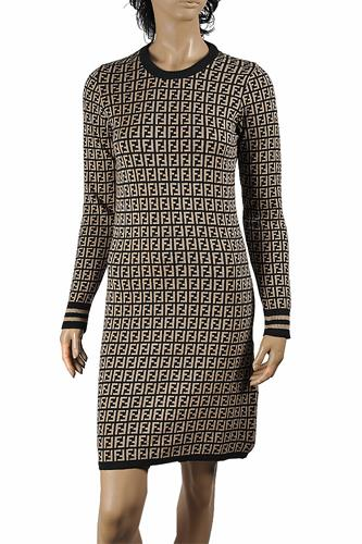 FENDI soft knitted long sleeve dress 35