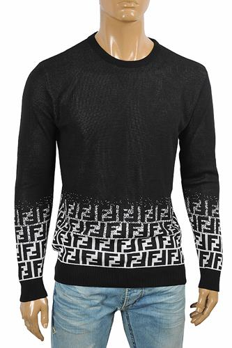 FENDI men's high quality FF print sweater 58