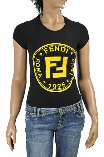 FENDI women's cotton T-shirt with front print 26